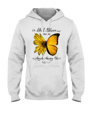 Oh I Believe There Are Angels Among Us Sunflower Hooded Sweatshirt thumbnail