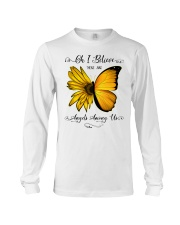 Oh I Believe There Are Angels Among Us Sunflower Long Sleeve Tee thumbnail