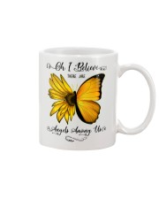 Oh I Believe There Are Angels Among Us Sunflower Mug thumbnail