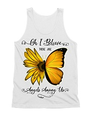 Oh I Believe There Are Angels Among Us Sunflower All-over Unisex Tank thumbnail