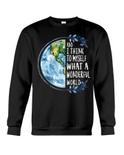 And I Think To Myself What A Wonderful World Crewneck Sweatshirt thumbnail