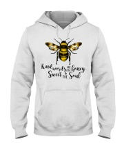 Kind Words Are Like Honey Sunflower Bee Hooded Sweatshirt thumbnail