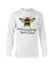 Kind Words Are Like Honey Sunflower Bee Long Sleeve Tee thumbnail
