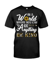 Be Kind Sunflower Classic T-Shirt front