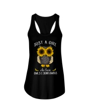 Just A Girl Who Loves Owls And Sunflowers Ladies Flowy Tank thumbnail
