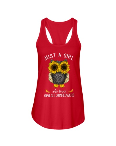 Just A Girl Who Loves Owls And Sunflowers