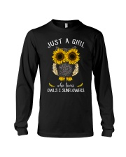 Just A Girl Who Loves Owls And Sunflowers Long Sleeve Tee thumbnail