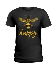 Bee Happy Ladies T-Shirt thumbnail