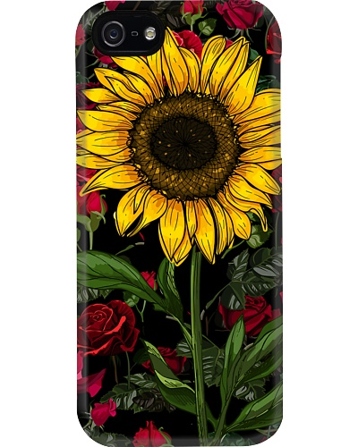 Sunflower And Roses