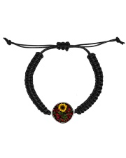 Sunflower And Roses Cord Circle Bracelet thumbnail