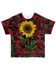 Sunflower And Roses All-over T-Shirt thumbnail