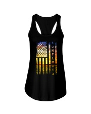 Sunflower American Flag Front Ladies Flowy Tank thumbnail