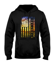 Sunflower American Flag Front Hooded Sweatshirt thumbnail