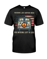 Freedom Hippie Sunflower Classic T-Shirt front