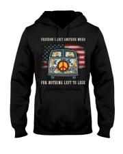 Freedom Hippie Sunflower Hooded Sweatshirt thumbnail