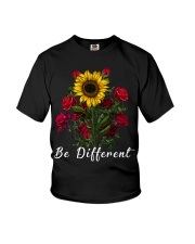 Be Different Sunflower And Roses Youth T-Shirt thumbnail