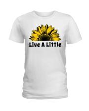 Live A Little Sunflower Ladies T-Shirt thumbnail