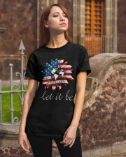 Let it Be American Flag Sunflower Classic T-Shirt apparel-classic-tshirt-lifestyle-06