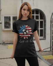 Let it Be American Flag Sunflower Classic T-Shirt apparel-classic-tshirt-lifestyle-19