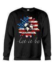 Let it Be American Flag Sunflower Crewneck Sweatshirt thumbnail