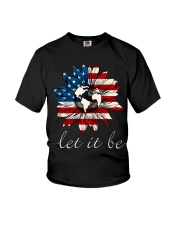 Let it Be American Flag Sunflower Youth T-Shirt thumbnail