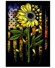 American Flag Star Sunflower Field Vertical Poster tile