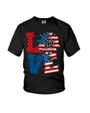 LOVE Sunflower American Flag Youth T-Shirt thumbnail