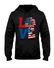 LOVE Sunflower American Flag Hooded Sweatshirt thumbnail