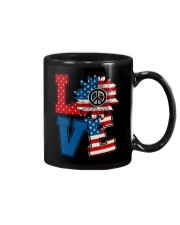 LOVE Sunflower American Flag Mug thumbnail