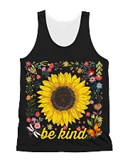 Be Kind Hippie Sunflower All-over Unisex Tank thumbnail