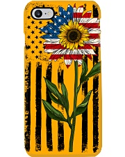 American Flag Sunflower No2 Phone Case thumbnail