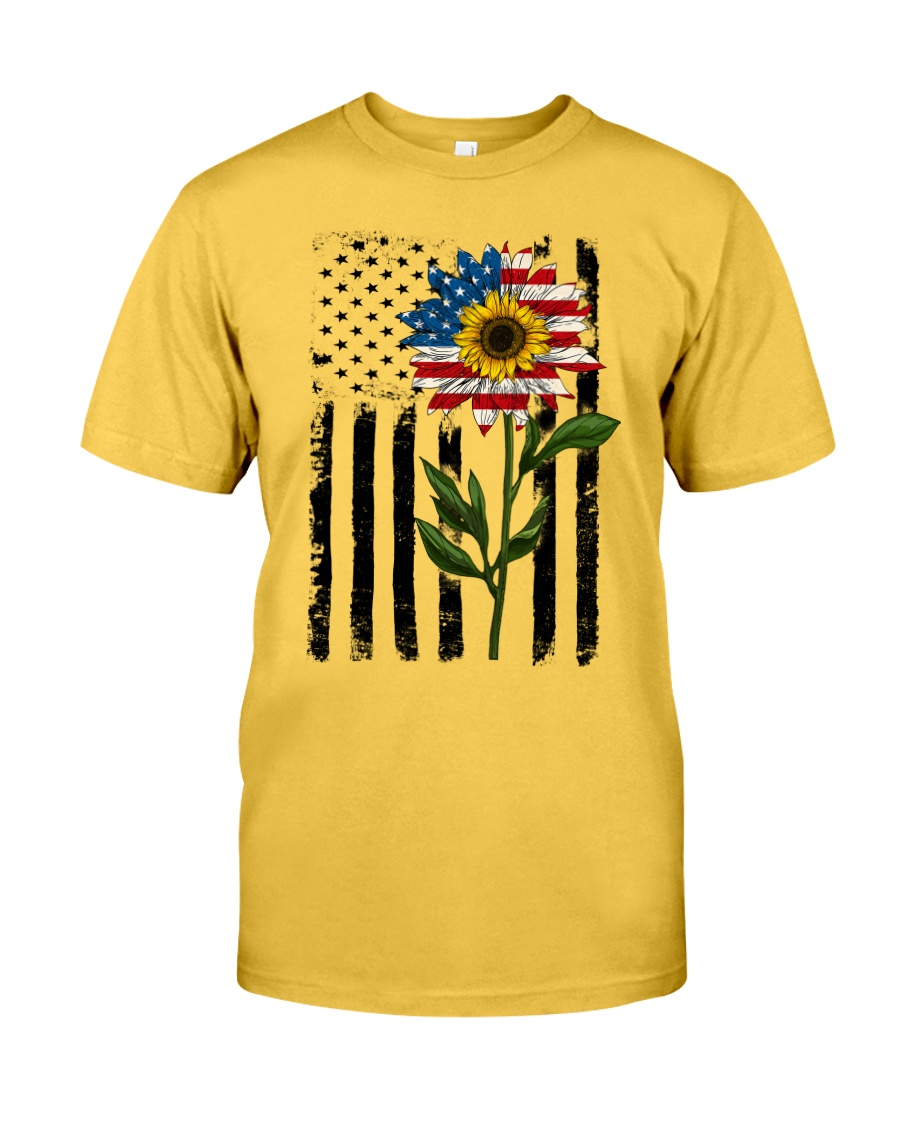 American Flag Sunflower No2 Classic T-Shirt