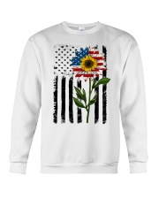 American Flag Sunflower No2 Crewneck Sweatshirt thumbnail