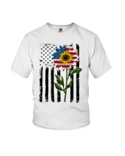 American Flag Sunflower No2 Youth T-Shirt thumbnail