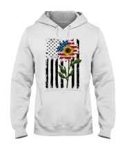 American Flag Sunflower No2 Hooded Sweatshirt thumbnail