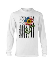 American Flag Sunflower No2 Long Sleeve Tee thumbnail