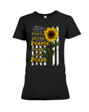 Imagine All The People Living Life In Peace Premium Fit Ladies Tee thumbnail
