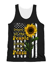 Imagine All The People Living Life In Peace All-over Unisex Tank thumbnail
