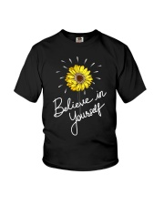 Believe In Yourself Sunflower Youth T-Shirt thumbnail