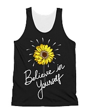 Believe In Yourself Sunflower All-over Unisex Tank thumbnail