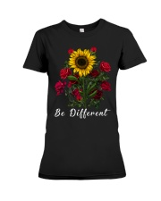 Be Different Sunflower Premium Fit Ladies Tee tile