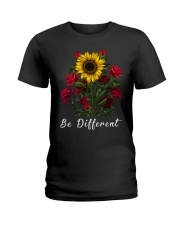 Be Different Sunflower Ladies T-Shirt tile