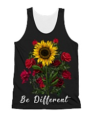 Be Different Sunflower All-Over Unisex Tank tile