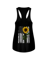 American Flag Sunflower Hippie Distressed Back Ladies Flowy Tank thumbnail