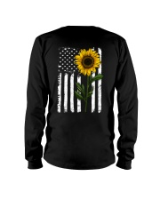 American Flag Sunflower Hippie Distressed Back Long Sleeve Tee thumbnail