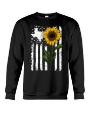 American Flag Texas Sunflower Crewneck Sweatshirt thumbnail