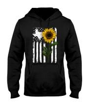 American Flag Texas Sunflower Hooded Sweatshirt thumbnail