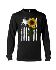 American Flag Texas Sunflower Long Sleeve Tee thumbnail
