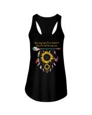 You May Say I'm A Dreamer Sunflower Dreamcatcher Ladies Flowy Tank thumbnail