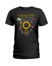 You May Say I'm A Dreamer Sunflower Dreamcatcher Ladies T-Shirt thumbnail